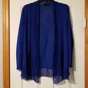 Size small Metaphor royal blue cardigan